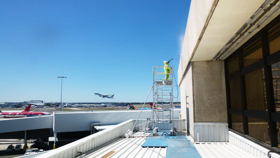 painting of Sydney international airport